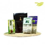 Thé à infusion, café moulu , café touba